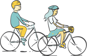 The Pedaler Cycler Illustration